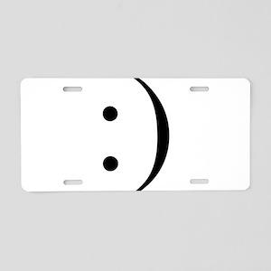 Colon Smiley Aluminum License Plate