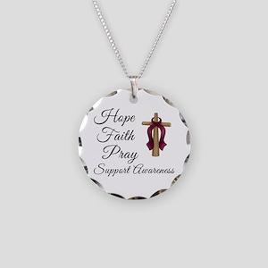 Hope Faith Prayer Necklace Circle Charm