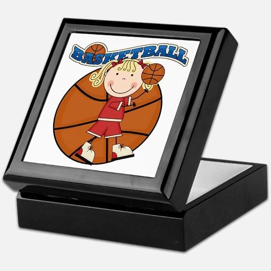 Blond Girl Basketball Keepsake Box