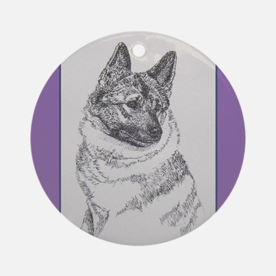 Norweigan Elkhound Ornament (Round)