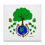 Earth Day Everyday Tile Coaster