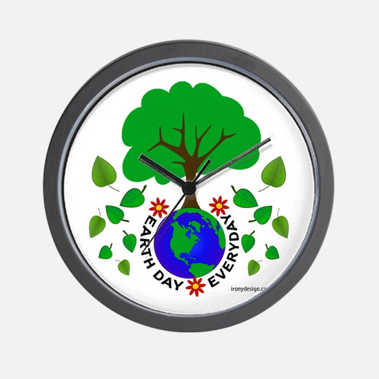 Earth Day Everyday Wall Clock