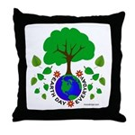 Earth Day Everyday Throw Pillow