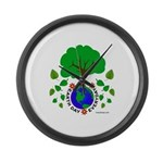 Earth Day Everyday Large Wall Clock