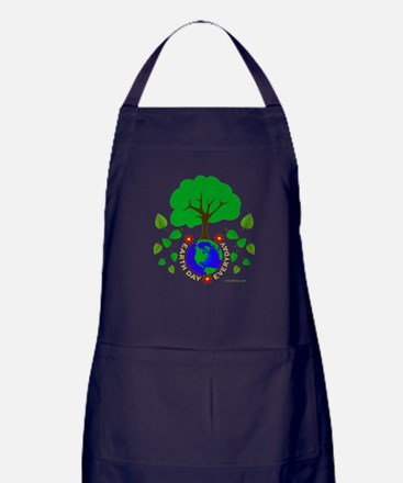 Earth Day Everyday Apron (dark)