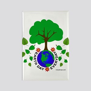 Earth Day Everyday Rectangle Magnet