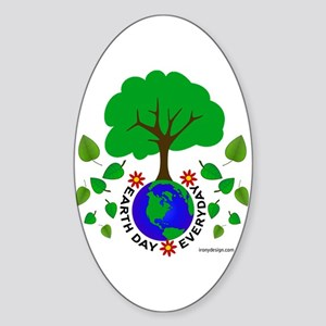 Earth Day Everyday Sticker (Oval)