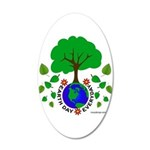 Earth Day Everyday 20x12 Oval Wall Decal