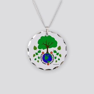 Earth Day Everyday Necklace Circle Charm