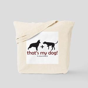 German Shepherd/Pointer Tote Bag