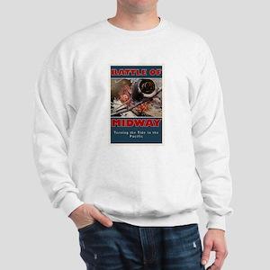 Battle of Midway Naval Battle - WWII Sweatshirt