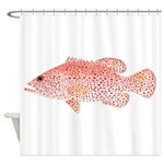 Strawberry Grouper Shower Curtain