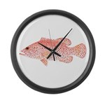 Strawberry Grouper Large Wall Clock