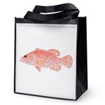 Strawberry Grouper Reusable Grocery Tote Bag