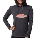 Strawberry Grouper Womens Hooded Shirt