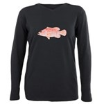 Strawberry Grouper Plus Size Long Sleeve Tee