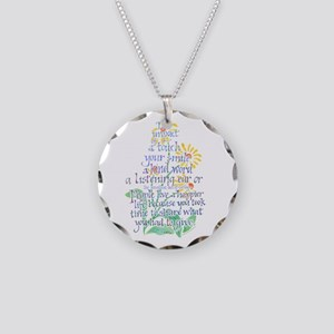 Impact of a Touch - Necklace Circle Charm