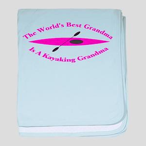 World's Best Grandma baby blanket
