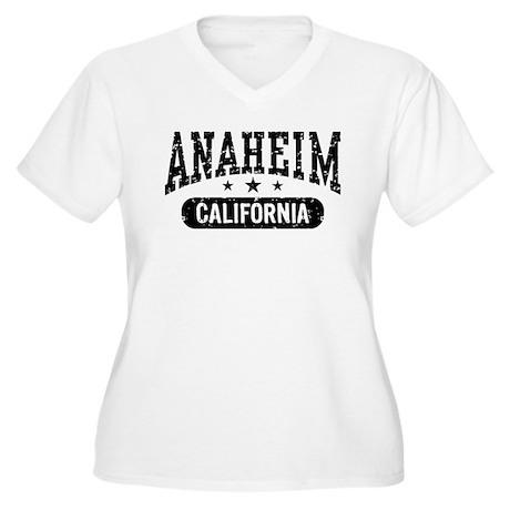 Anaheim California Women's Plus Size V-Neck T-Shir