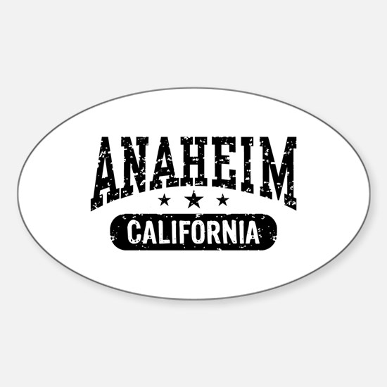 Anaheim California Sticker (Oval)
