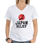 Japan Relief Women's V-Neck T-Shirt