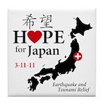 Hope for Japan Tile Coaster