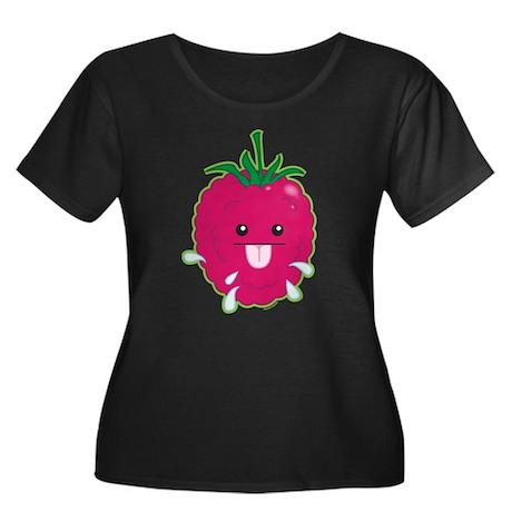 Raspberry Women's Plus Size Scoop Neck Dark T-Shir