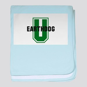 Earthdog University baby blanket