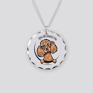 Apricot Poodle IAAM Necklace Circle Charm