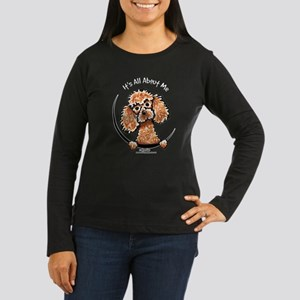 Apricot Poodle IAAM Women's Long Sleeve Dark T-Shi