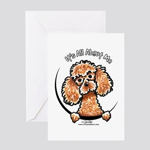 Apricot Poodle IAAM Greeting Card