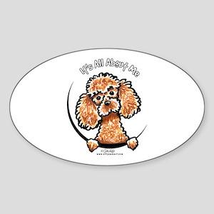 Apricot Poodle IAAM Sticker (Oval)