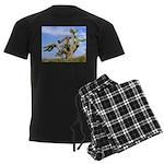 Tucson Saguaro Monster Men's Dark Pajamas