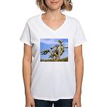 Tucson Saguaro Monster Women's V-Neck T-Shirt