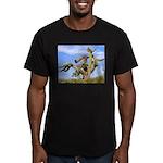 Tucson Saguaro Monster Men's Fitted T-Shirt (dark)