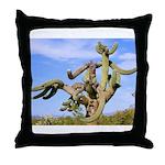 Tucson Saguaro Monster Throw Pillow
