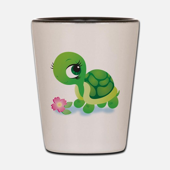 Toshi the Turtle Shot Glass