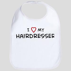 I Love Hairdresser Bib