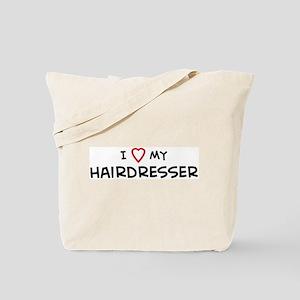 I Love Hairdresser Tote Bag