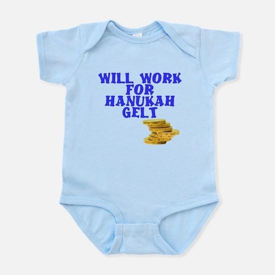 Will work for Hanukkah Gelt Infant Bodysuit