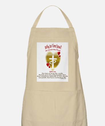 He Loved Me First! BBQ Apron