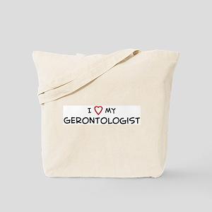 I Love Gerontologist Tote Bag