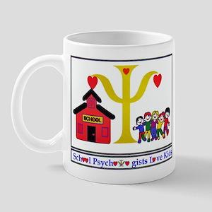 psych designs logo Mugs