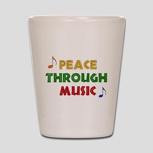 Peace Through Music Shot Glass