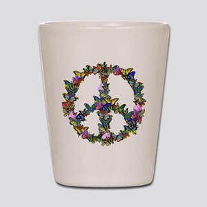 Butterflies Peace Sign Shot Glass