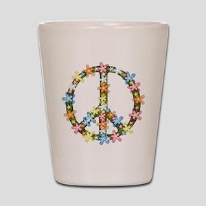 Peace Flowers Shot Glass