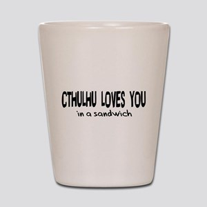 Cthulhu Loves You Shot Glass