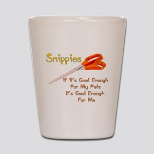 Snippies Shot Glass