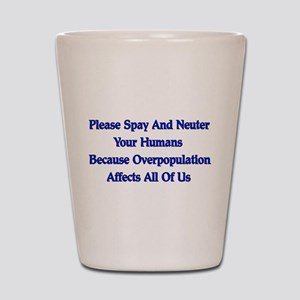 Spay And Neuter Shot Glass