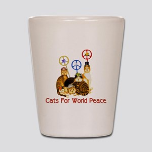 World Peace Cats Shot Glass